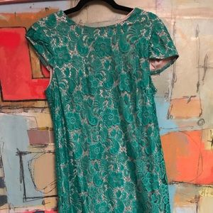 Dresses & Skirts - Beautiful green lace dress fully lined